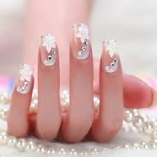 2015 color twill clear stiletto nails decorated designs 3d