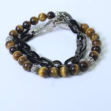 tiger eye jewelry its properties 52g silver hardy naga tigers eye wrap link bracelet