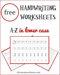 9 best images about handwriting worksheets on pinterest