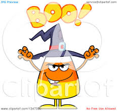 cartoon halloween picture clipart of a cartoon halloween candy corn character waving