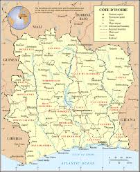 Ivory Coast Map Map Cote Images Reverse Search