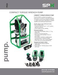 Tork 15 Amp Heavy Duty by Compact Torque Wrench Pump Spx Hydraulic Technologies Pdf