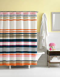 Navy And White Striped Shower Curtain Navy And Orange Shower Curtain Pierre Shower Curtainorange Shower