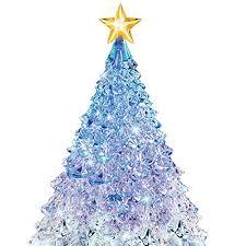 amazon com thomas kinkade crystal tabletop christmas tree lights