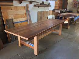 rough sawn douglas fir craftsman style dining table reclaimed