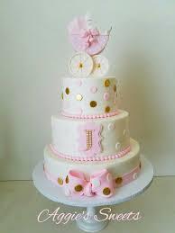 white pink and gold baby shower cake u2026 pinteres u2026