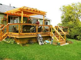 backyard deck ideas easy access with backyard deck ideas great