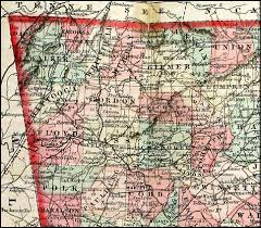 Eastern Tennessee Map by Western U0026 Atlantic Railroad 1860 Map