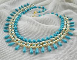 pearl beads necklace images Free pattern for beaded necklace turquoise pearls beads magic jpg