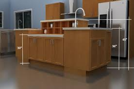 wooden style kitchen island with oak wooden countertops and oak