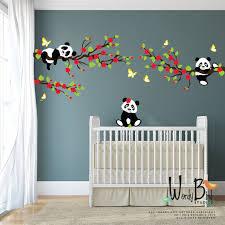 stickers chambre bébé mixte panda stickers muraux stickers muraux arbre avec des