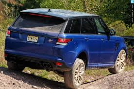 range rover sport blue the fastest land rover ever 2016 range rover sport svr photo
