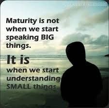 does age define maturity quora