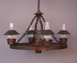 Wagon Wheel Lighting Fixtures Vintage Wagon Wheel Chandelier