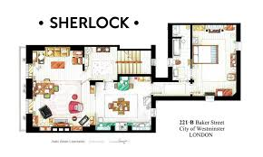 221b baker street floor plan the floorplan of sherlock holmes tv floorplans more facebook