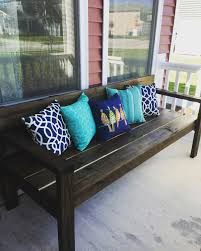 Backyard Bench Ideas by Large Diy Front Porch Bench Ana White Annie Sloan And Legs
