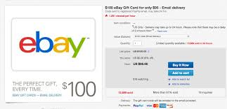 discount e gift cards take 5 your next 100 purchase at ebay with this email giftcard