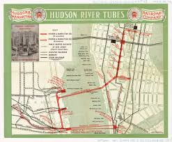 Grand Central Map Historical Map Hudson River Tubes 1909 Transit Maps