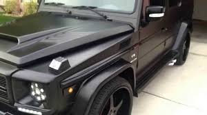 mercedes jeep black matte black mercedes benz g55 amg beastie youtube