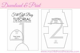 template diy how to make a gift bag diy gift bags free template