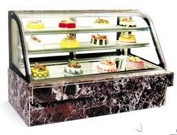 china counter top cake cabinet display refrigerator showcase