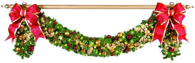 gold garland pole with finial commercial supply