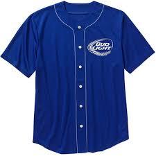 bud light baseball jersey license bud light big men s baseball jersey walmart com