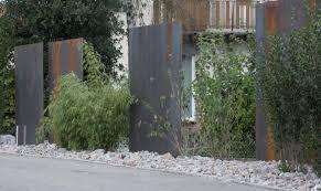 Trennwand Garten Glas Gartengestaltung Sichtschutz Stahl U2013 Motelindio Info