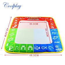 1 pcs 49x48cm 3 color magic water drawing mat with 1 magie pen for