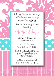 online baby shower blue pink damask baby shower invitation pintable just