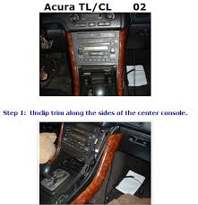 2002 acura tl type s i to disconnect the radio ck