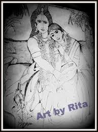 radha and krishna u2013 pencil sketches u2013 a mythology blog