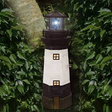 solar powered outdoor l post lights traditional solar powered garden lighthouse with rotating led