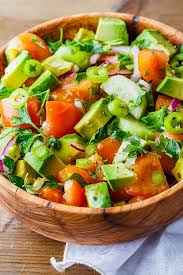 best salad recipes the best avocado tomato and cucumber salad ever