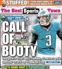 new york post commemorates fumble with cover photo