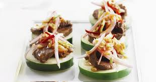 beef canape recipes beef salad canapes recipesplus