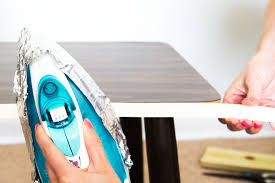 laminate table top refinishing refinish the edges of a laminate piece with easy to use iron of wood