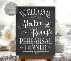 Personalized Pictures With Names Rehearsal Dinner Sign Welcome Chalkboard Printable Personalized