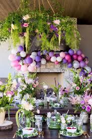 garden theme party ideas with flower centerpieces plan a backyard