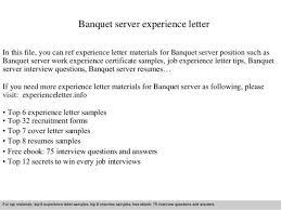 Serving Resume Template Sample Server Resume Cover Letter Server Resumes Waitress Cv