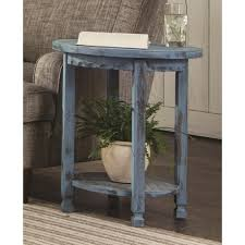 decor therapy simplify antique iced blue 1 drawer end table fr1550