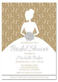 free wedding invitation sles brides wedding invitations templates gold bridal shower