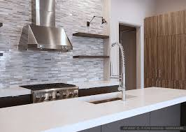 Kitchen Backsplash Contemporary Kitchen Other White Modern Subway Marble Mosaic Backsplash Tile