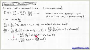 coordinate transformations part 3 lecture 3 3 chemical engineering fluid mechanics