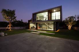 Glass Wall House by Architecture Glass Wall Living Room Ideas