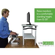 amazon com lift standing desk conversion kit tall affordable