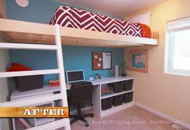 Plans For Loft Bed With Desk by Ana White Loft Bed As Seen On Hgtv Saving Alaska Diy Projects