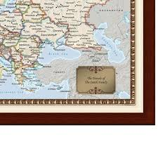 Personalized World Map by The Personalized European Travels Map Hammacher Schlemmer