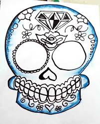 the images collection of color drawing ideas skull