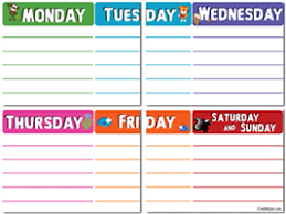days of the week activities worksheets printables and lesson plans